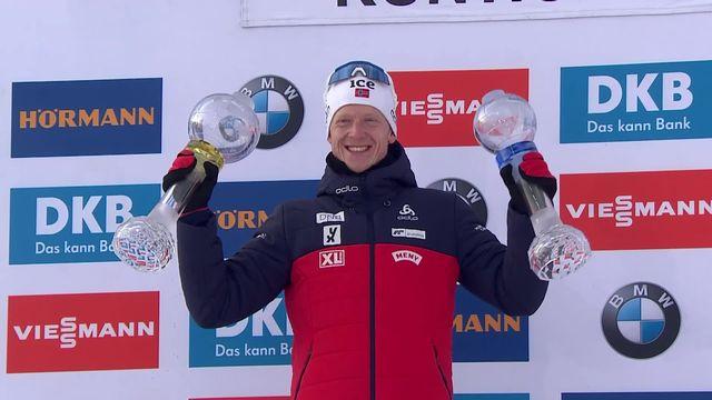 Kontiolahti (FIN), poursuite messieurs: Johannes Thingnes Boe (NOR) remporte le gros globe de cristal [RTS]