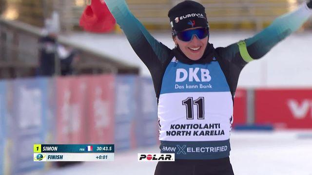 Kontiolahti (FIN), poursuite dames: seconde derrière Simon (FRA), Selina Gasparin termine la saison sur un podium! [RTS]