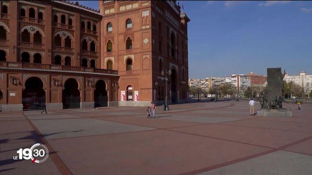 L'Espagne est le deuxième pays européen le plus frappé par le covid-19. Le pays est en état d'urgence sanitaire. [RTS]
