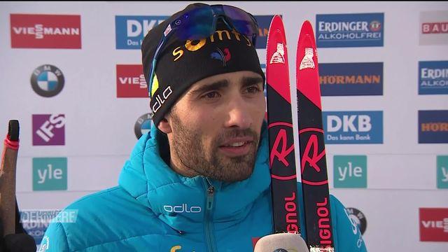 Biathlon, poursuite messieurs: Les adieux de Martin Fourcade sur une 83e victoire [RTS]