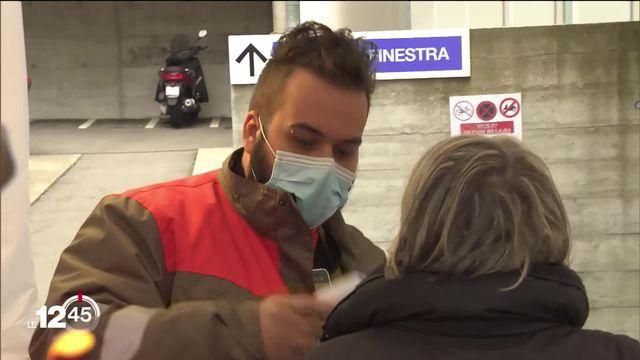 """Fanny Zuercher: """"Le Tessin est engagé dans une course contre la montre face au coronavirus"""". [RTS]"""