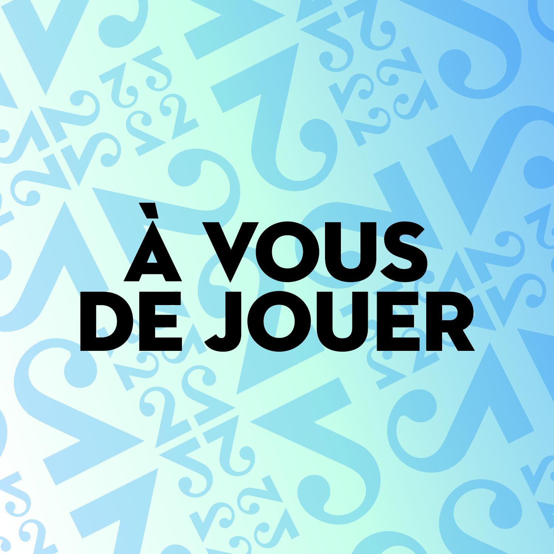 """Logo podcast """"A vous de jouer"""" [RTS]"""