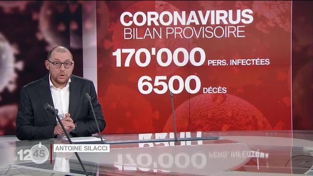 Antoine Silacci présente le bilan provisoire de l'épidémie de Covid-19 à travers le monde. [RTS]