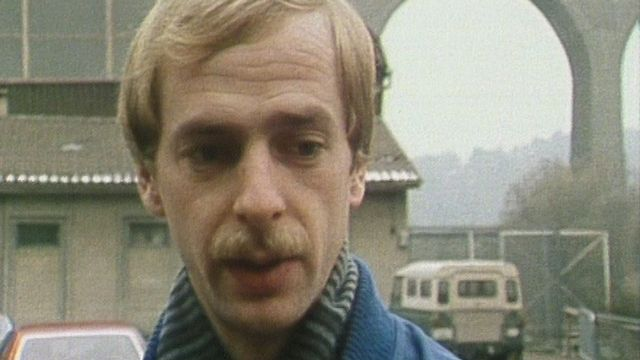 """Jean Lussier, dit """"Le Grand Jean"""", star du HC Gotteron dans les années 80. [RTS]"""