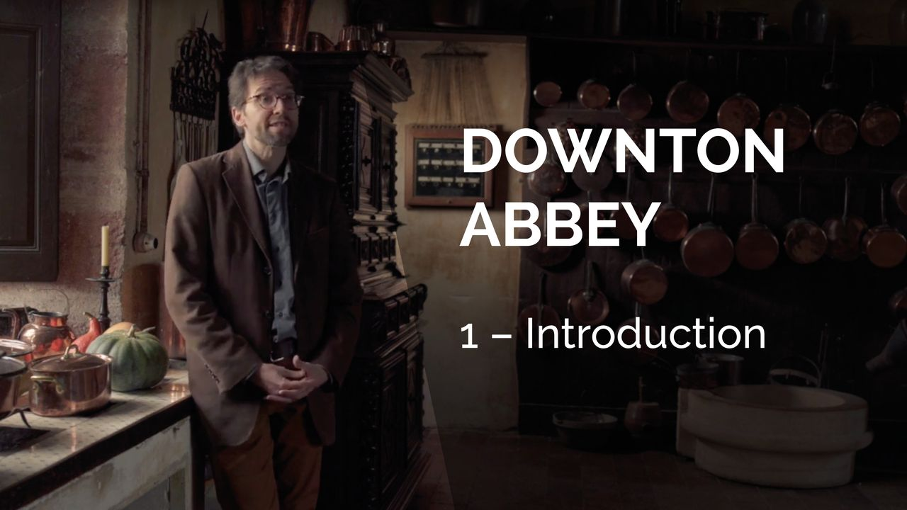 Downton Abbey, introduction. [La Souris Verte / RTS]