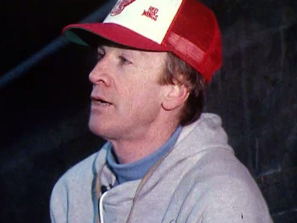 Gaston Pelletier, entraîneur canadien du HC Gotteron en 1980. [RTS]