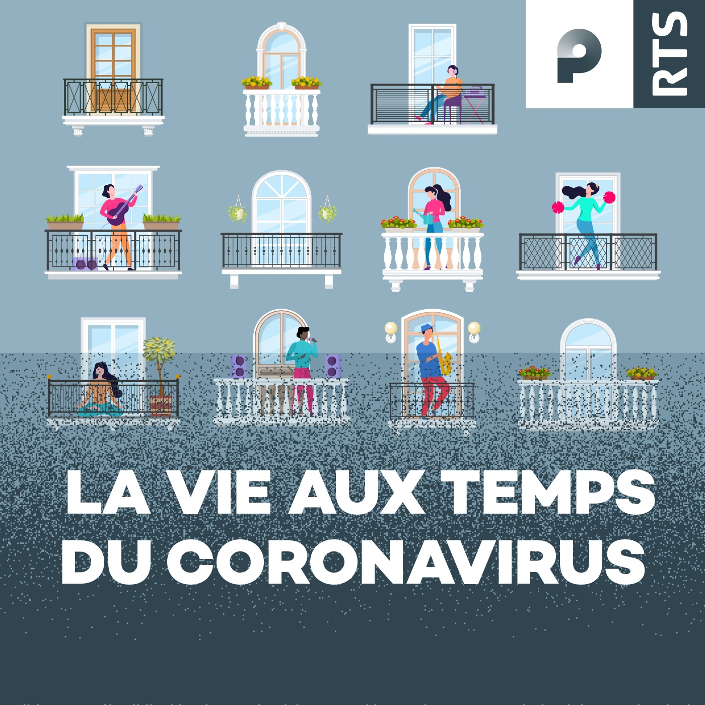 La vie aux temps du coronavirus (Logo) [RTS]
