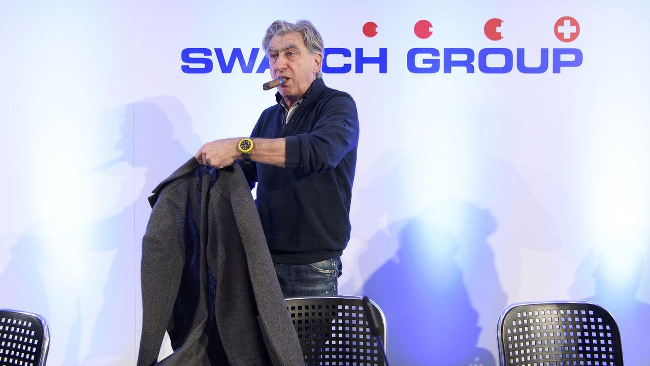 Le patron de Swatch Group Nick Hayek (ici, en mars 2018). [Anthony Anex - Keystone]