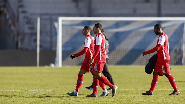 Les joueurs du FC Sion veulent faire valoir leurs droits. [Cyril Zingaro - Keystone]