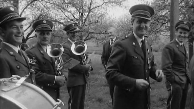 La fanfare d'Yvonand en 1970. [RTS]
