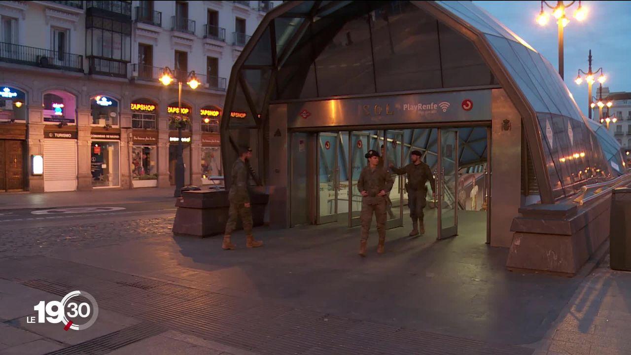 En Espagne, l'état d'urgence sanitaire a été décrété samedi. C'est le 2e pays le plus touché en Europe par le coronavirus [RTS]