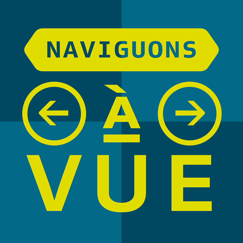 Naviguons à vue (logo podcast)