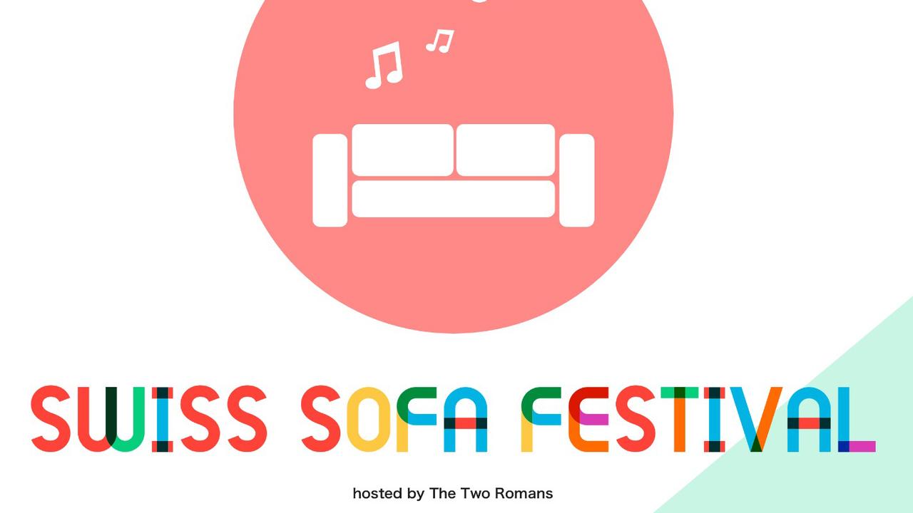 Le logo du Swiss Sofa Festival. [The Two Romans ]