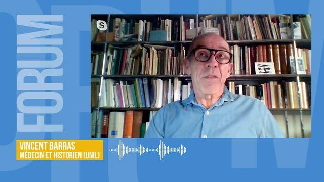 Vincent Barras analyse le coronavirus dans l'histoire des épidémies en Suisse (vidéo) [RTS]
