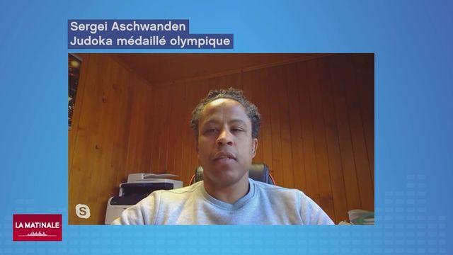 Sergei Aschwanden, médaillé de bronze en judo des Jeux de Pékin 2008 et désormais directeur du Centre des Sports de Villars SA à Villars-sur-Ollon (La Matinale du 25.03.20) [RTS]