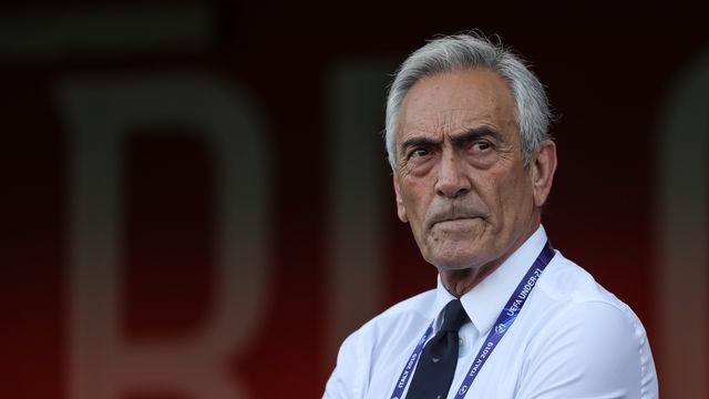 Le président de la Fédération italienne Gabriele Gravina veut que la saison aille à son terme. [Emmanuele Ciancaglini - AFP]