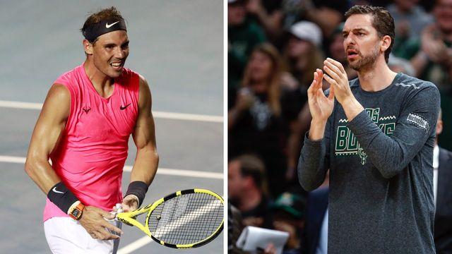 Rafael Nadal et Pau Gasol s'engagent dans la luttre contre le coronavirus. [Henry Romero/USA Today USPW - Reuters]