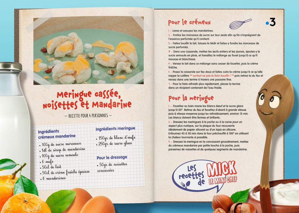 La recette de la Meringue Mandarine. [Studio Redfrog - AnimationsFabrik]