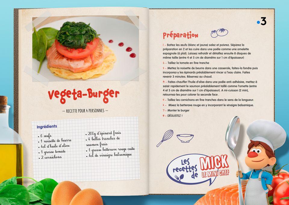 La recette du Végéta Burger. [Studio Redfrog - AnimationsFabrik]