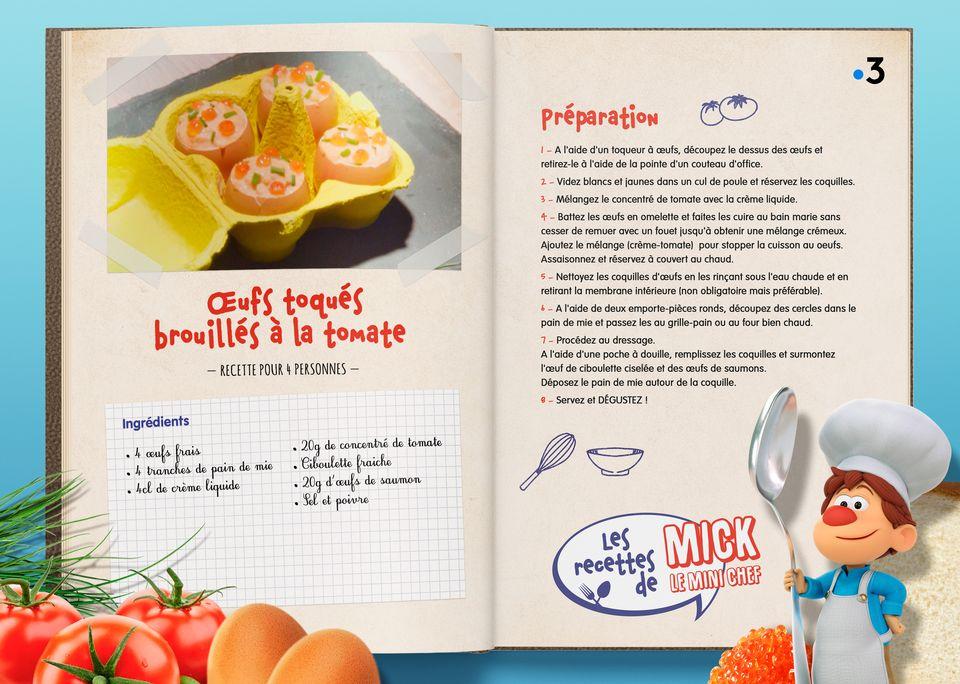 La recette des Oeufs Toqués Tomate. [Studio Redfrog - AnimationsFabrik]