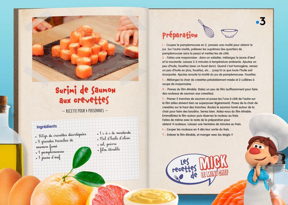 La recette des Surimis au Saumon.  [Studio Redfrog - AnimationsFabrik]
