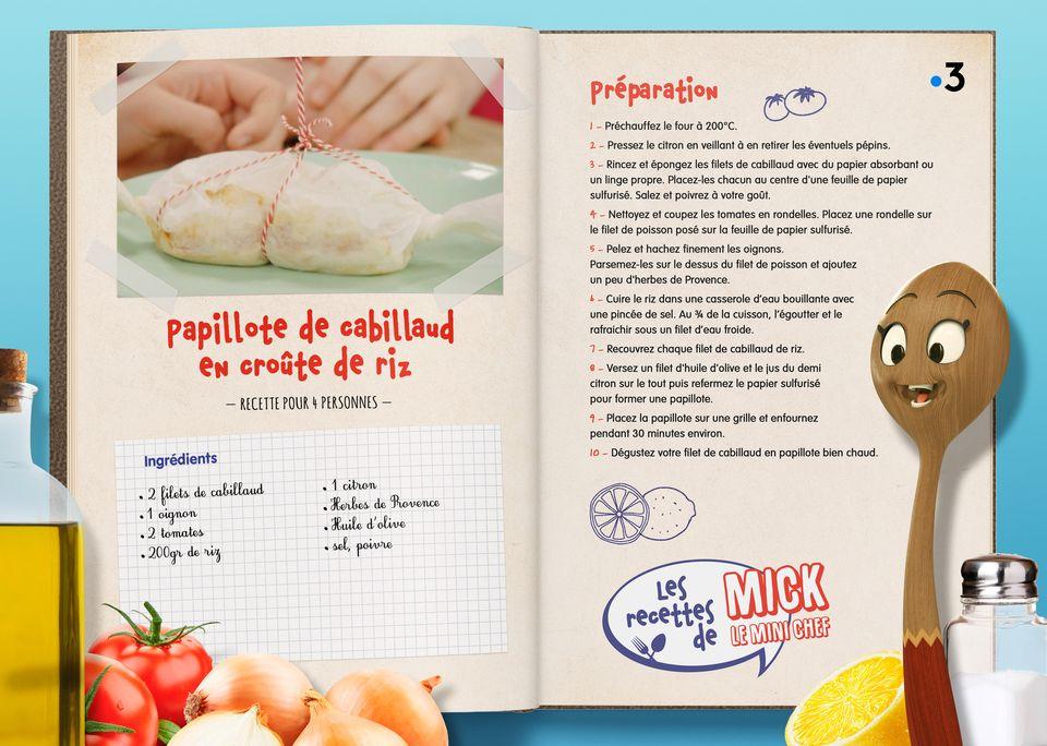 La recette de la Papillote de Cabillaud. [Studio Redfrog - AnimationsFabrik]