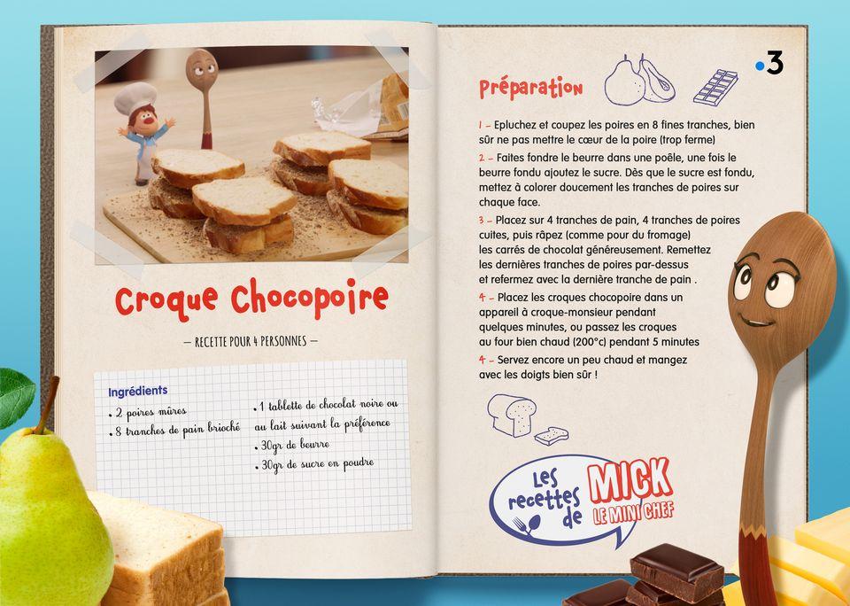La recette des Croques-chocopoires. [Studio Redfrog - AnimationsFabrik]