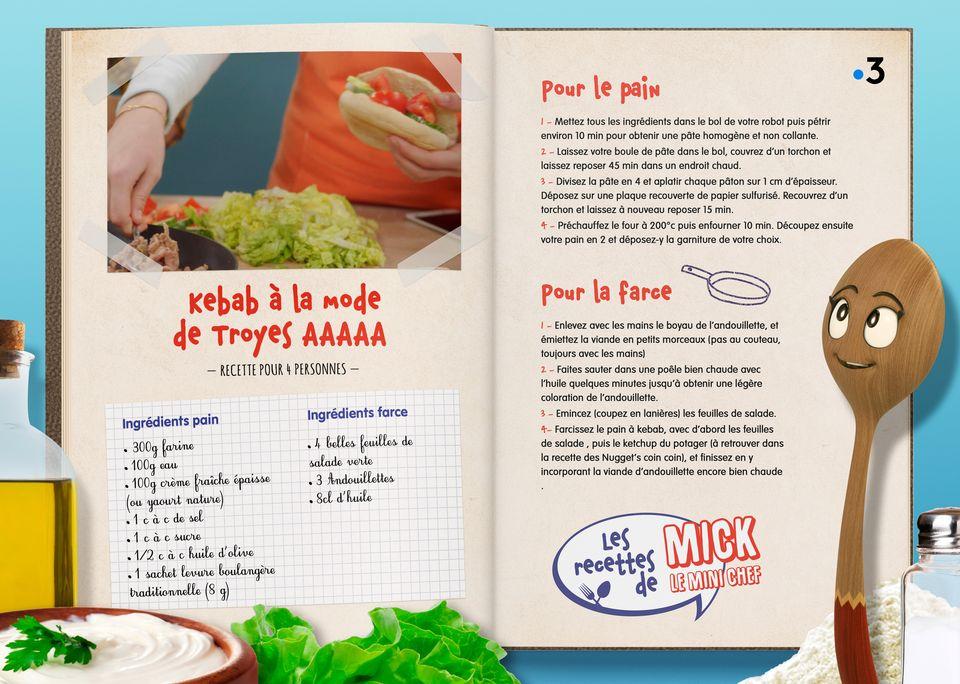 La recette du Kebab à la mode de Troyes. [Studio Redfrog - AnimationsFabrik]