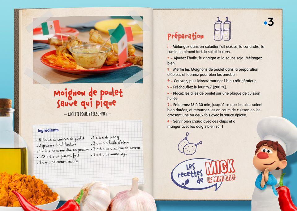 La recette des Manchons de Poulet. [Studio Redfrog - AnimationsFabrik]