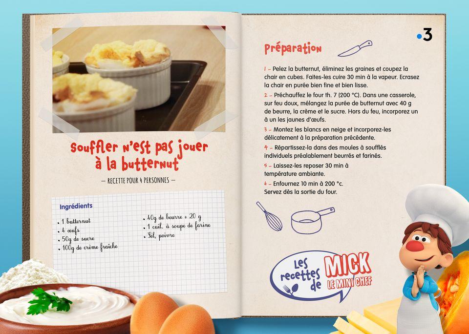 La recette du Soufflé Butternut. [Studio Redfrog - AnimationsFabrik]