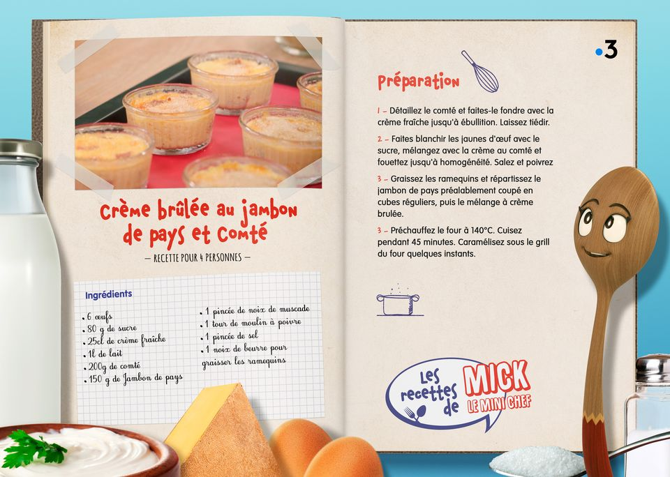 La recette de la Crème Brûlée. [Studio Redfrog - AnimationsFabrik]