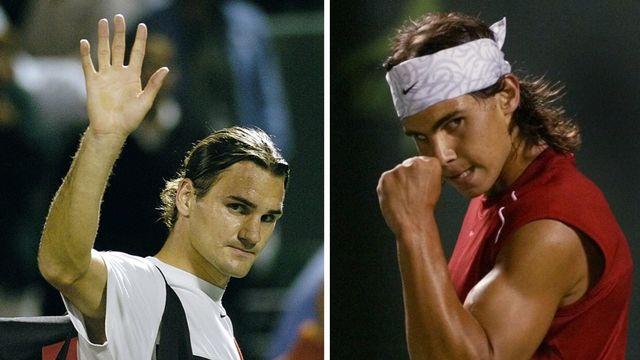 Nadal remporte le 1er duel face à Federer en 2004. [R.Wise/W.Lee - Keystone]