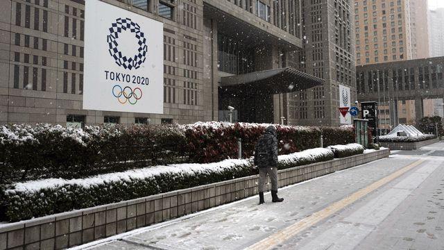 Un tapis de neige a couvert la capitale japonaise samedi. [Keystone]