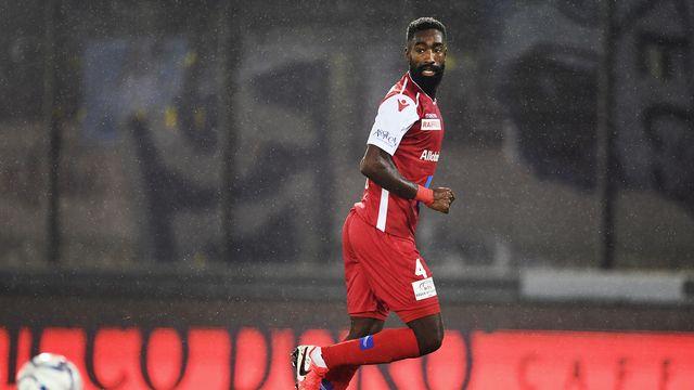 Johan Djourou le 2 février lors du match Sion-Zurich. [Olivier Maire - Keystone]