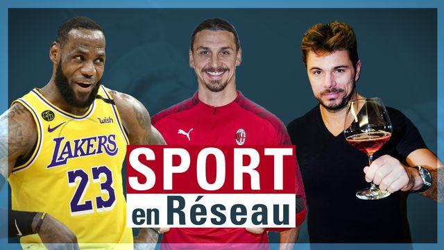 James, Ibrahimovic et Wawrinka se sont illustrés ces derniers jours sur les réseaux sociaux. [RTS]