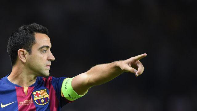 Xavi Hernandez fut un capitaine respecté au sein du FC Barcelone. Il en sera sans doute un jour l'entraîneur. [Marcus Brandt - Keystone]