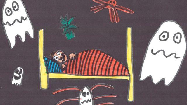 La peur du noir, réalisé par Noé, 8 ans. [Noé]