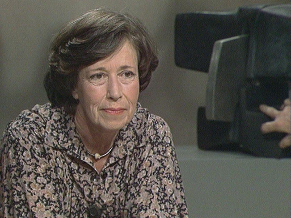 L'écrivaine suisse Yvette Z'Graggen en 1980. [RTS]