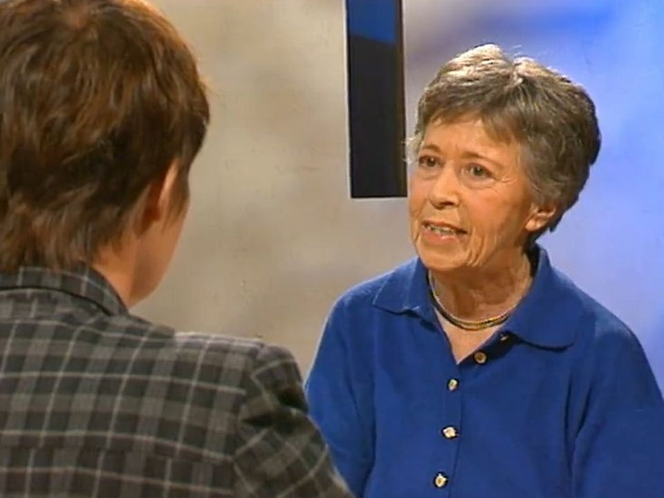 Yvette Z'Graggen, interviewée par Florence Heiniger en 1996. [RTS]