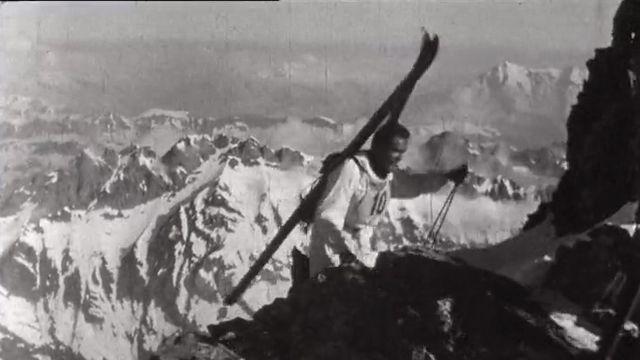 Sur le parcours du Trophée du Muveran en 1966. [RTS]