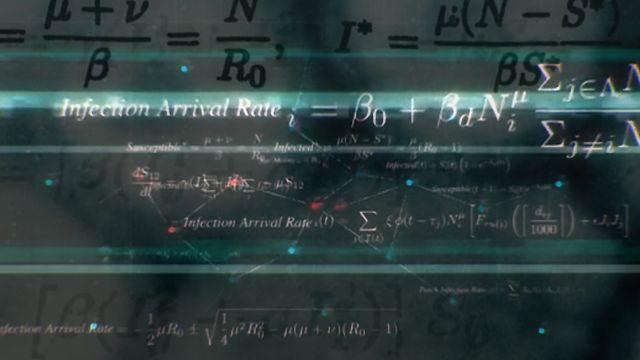 Les simulations ont été élaborées grâce à des modèles mathématiques. [BBC Pandemic]