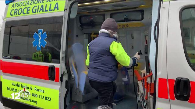 La pandémie et ses volontaires: ex. un international de rugby de l'équipe italienne devenu ambulancier. [RTS]