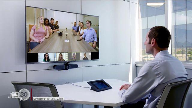 L'appli ZOOM, un service de vidéo-conférence qui compte deux millions d'utilisateurs mensuels supplémentaires par mois. [RTS]