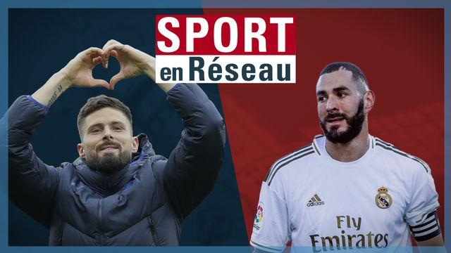 Benzema n'a pas manqué d'attaquer Giroud cette semaine sur les réseaux sociaux. [RTS]