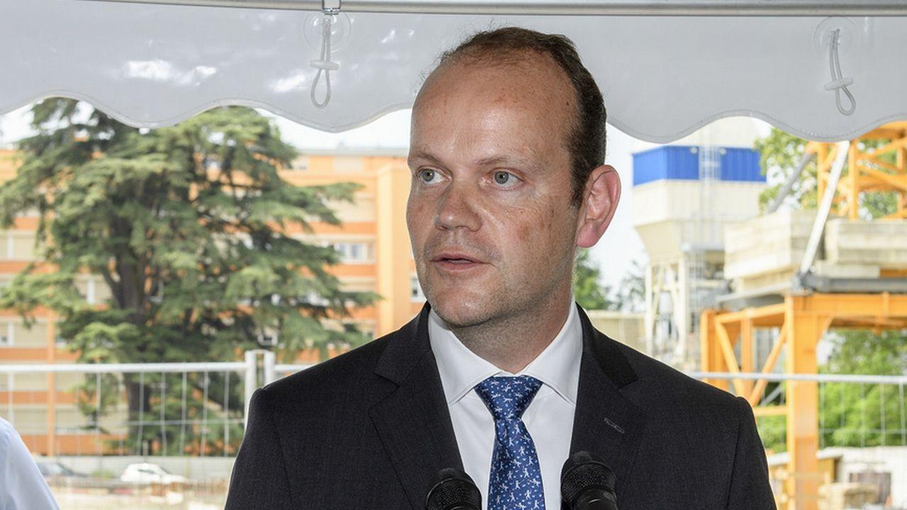 Thomas Boyer, directeur général du Groupe mutuel. [Martial Trezzini - Keystone]