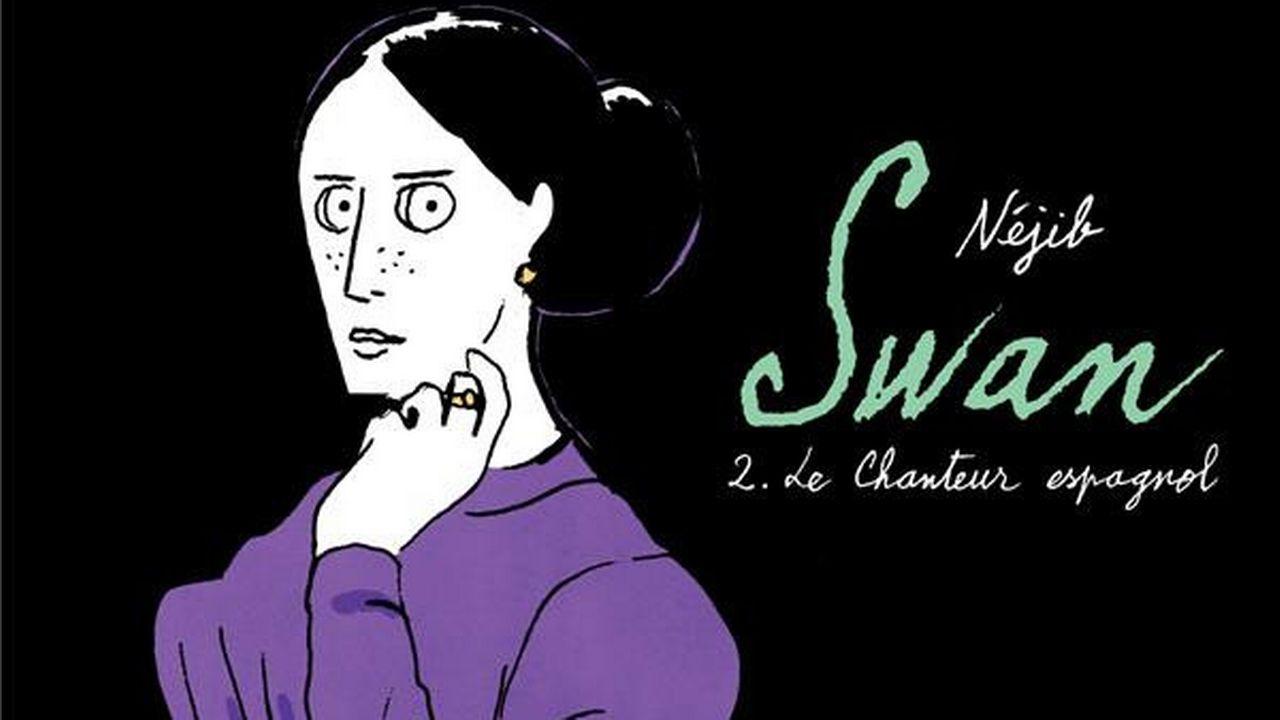 """La couverture de la BD """"Swan. 2. Le chanteur espagnol"""" de Néjib. [Gallimard]"""