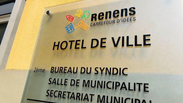 L'entrée de l'Hôtel de Ville de Renens. [Karine Vasarino - RTS]