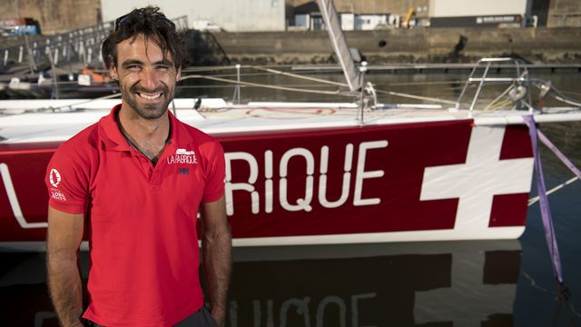 Alan Roura prend son mal en patience chez lui à Lorient. [Laurent Gillieron - Keystone]