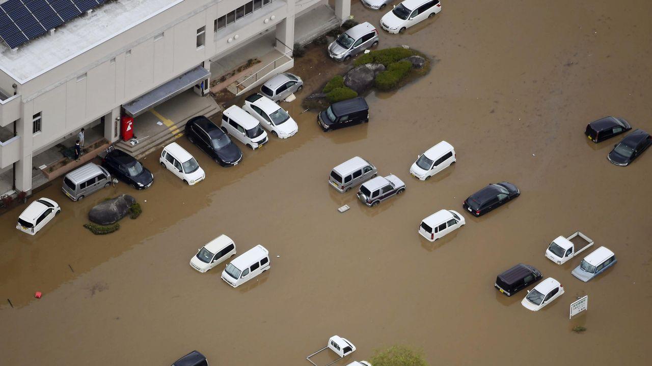 En octobre, le typhon Hagibis a fait de gros dégâts au Japon. [Kyodo News via AP - Keystone]