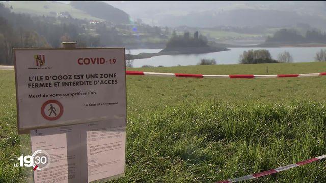 Pour ce week-end pascal certaines communes se barricadent pour éviter l'afflux de visiteurs. [RTS]